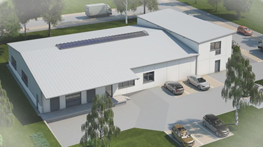 Neubau eines Backbetriebes mit 8 Stellplätzen und einer Trafostation,  Frankfurt-Kalbach